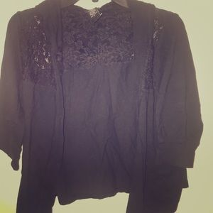 Torrid size 2 open hoodie top